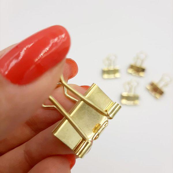 Binder Clips Molin - Dourado 19mm 12 Unidades