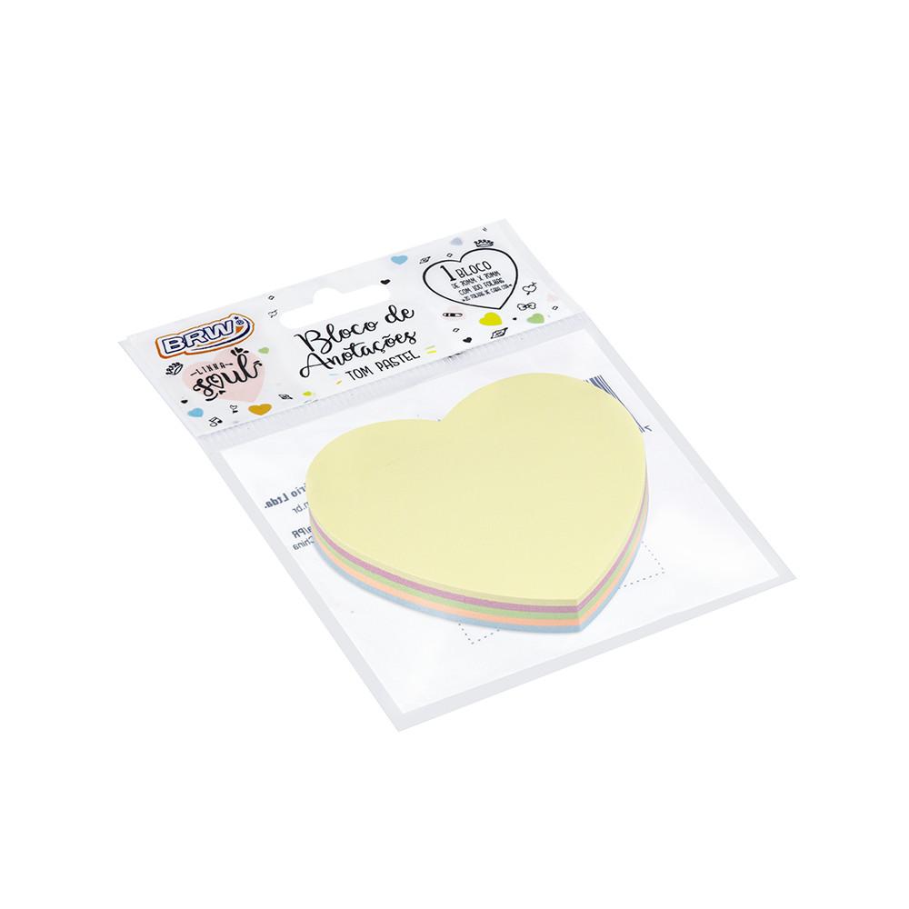 Bloco Adesivo Coração Pastel BRW