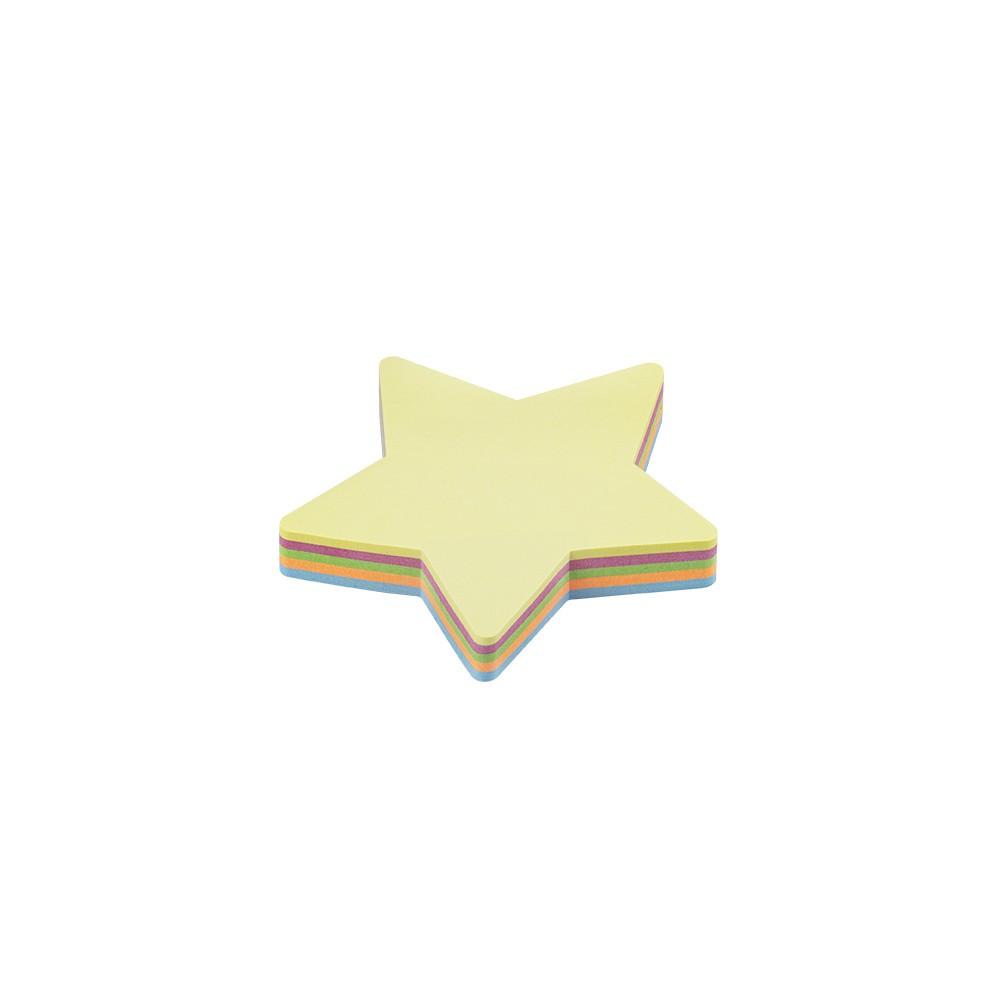 Bloco Adesivo Estrela Pastel BRW