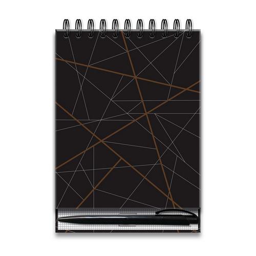 Bloco Office com Caneta Fina Ideia Geométrico