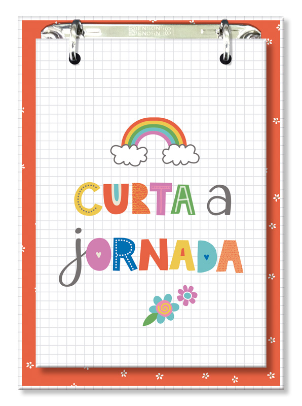 Bloco Office Fina Ideia Frases Coloridas