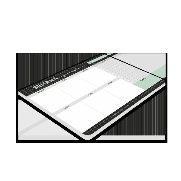 Bloco Planner Semanal Cartões Gigantes - Grid