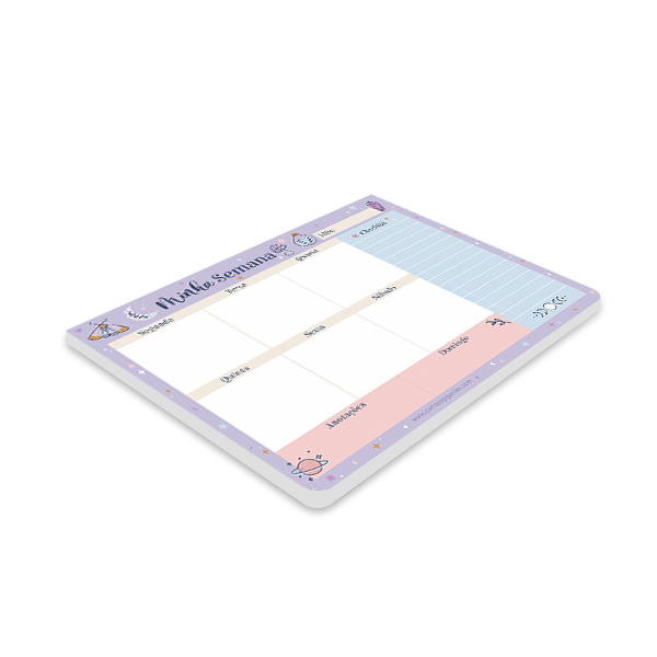 Bloco Planner Semanal Cartões Gigantes - Mística