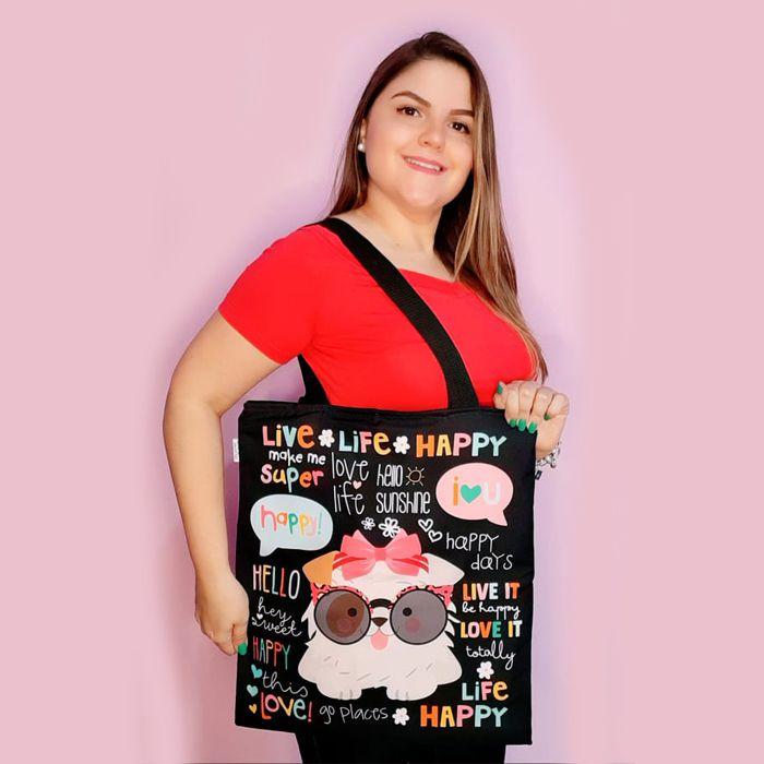 Bolsa Tote Bag -Happy Cachorro