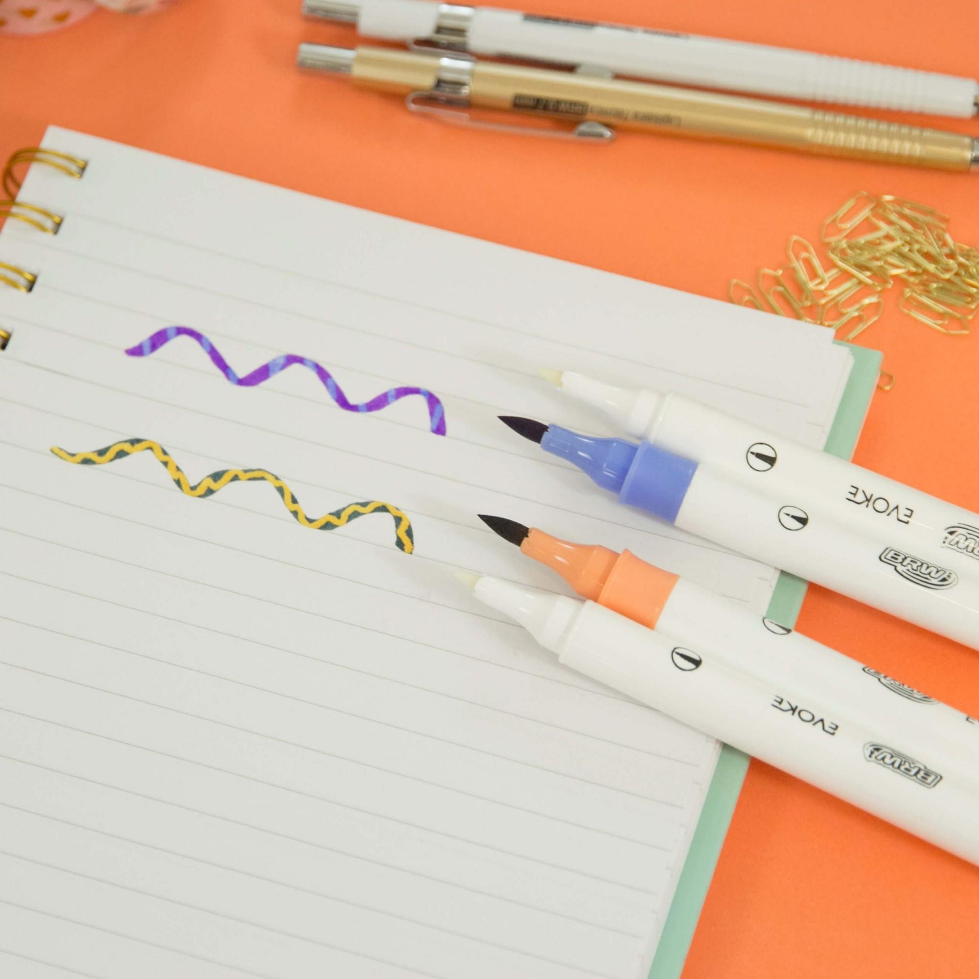 Brush Pen Dual Magic Evoke BRW - Caneta Mágica