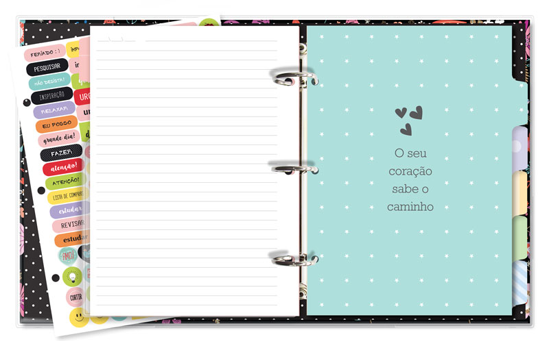 Caderno Argolado Fichário Fina Ideia - Fiore