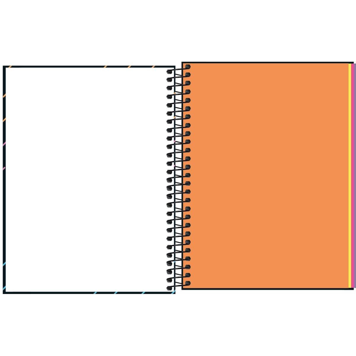 Caderno Colegial 80 Folhas Tilibra - Neon Kori
