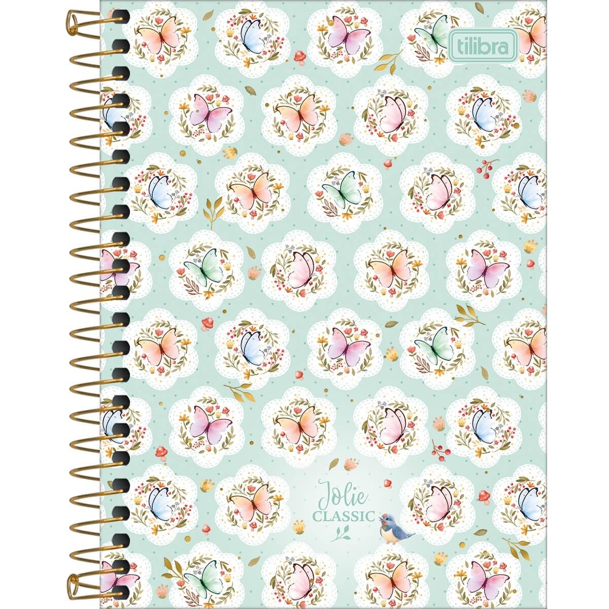 Caderno Médio 1/4 80 Folhas Tilibra - Jolie Classic