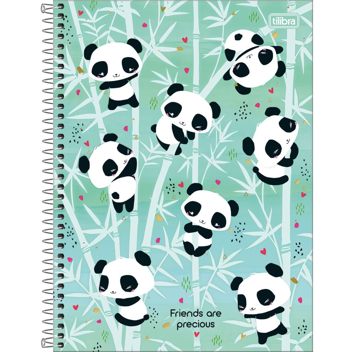 Caderno Médio 1/4 80 Folhas Tilibra - Lovely Panda