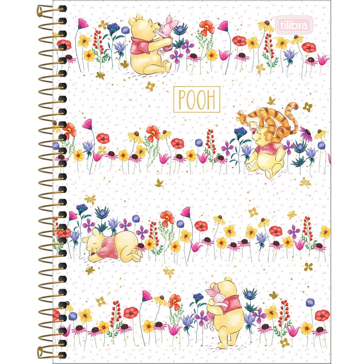 Caderno Colegial 80 Folhas Tilibra - Pooh