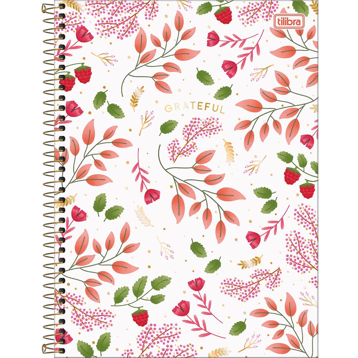 Caderno Universitário 1 Matéria 80 Folhas Tilibra - Le Vanille