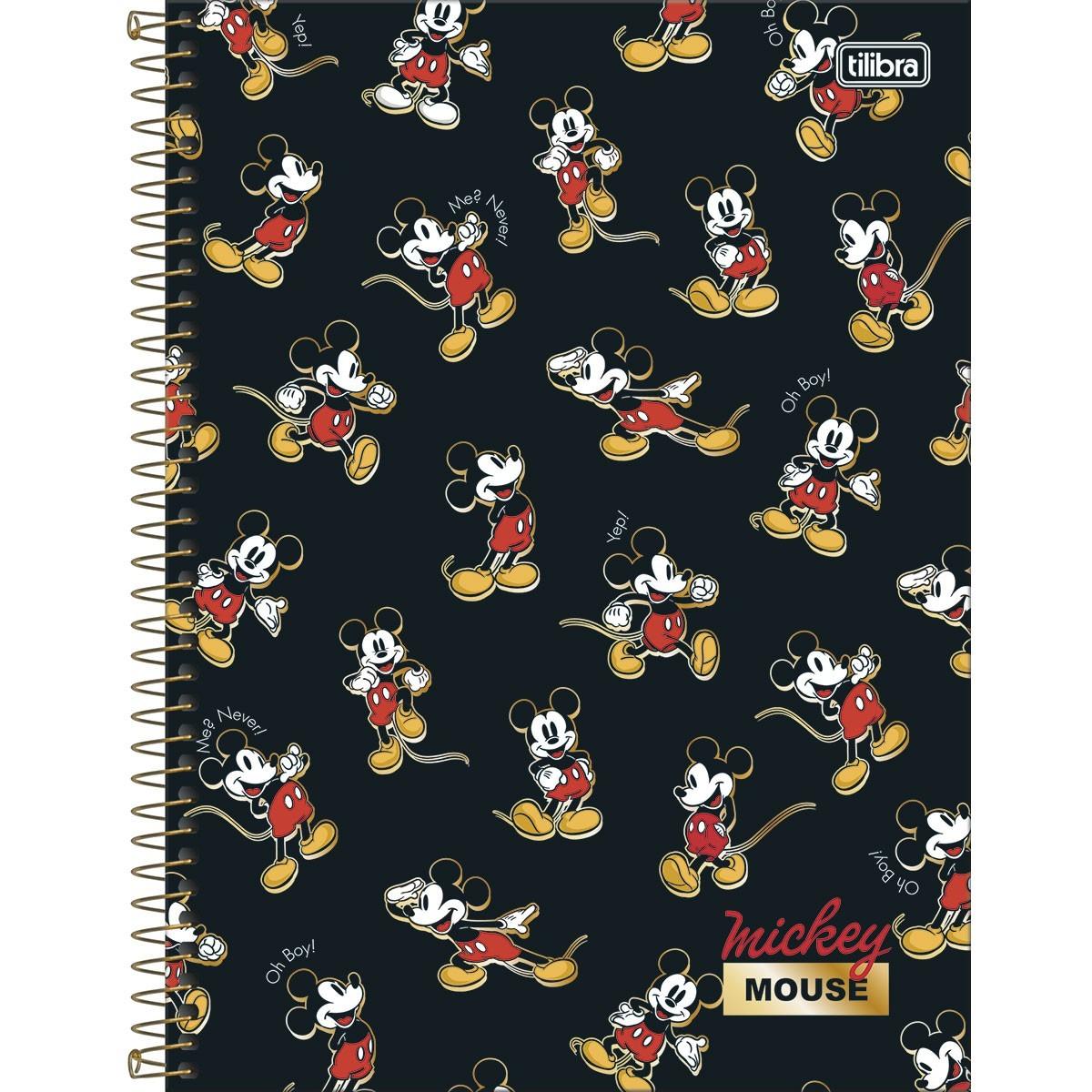 Caderno Universitário 1 Matéria 80 Folhas Tilibra - Mickey