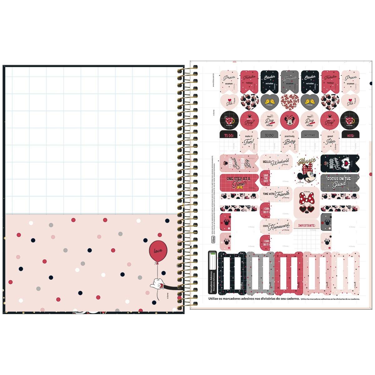 Caderno Universitário 1 Matéria 80 Folhas Tilibra - Minnie