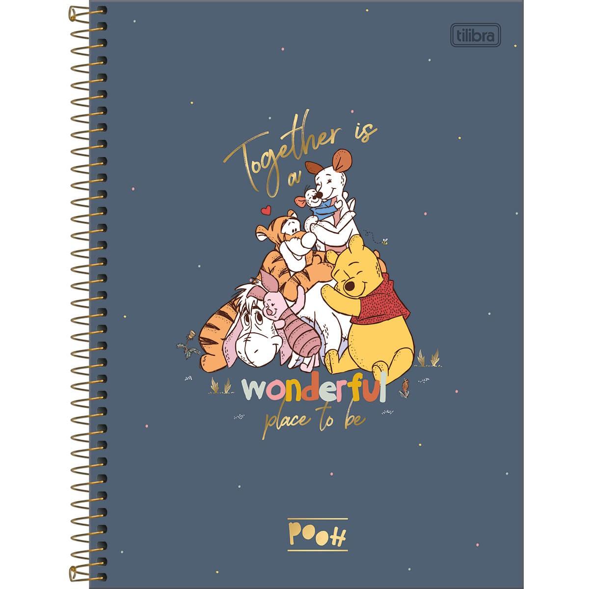 Caderno Universitário Pooh 1 Matéria Tilibra