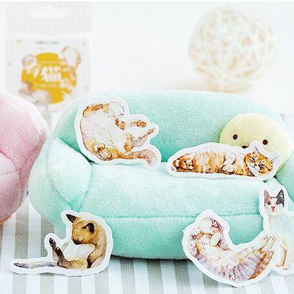 Caixinha de Adesivos - Gatos Fofos