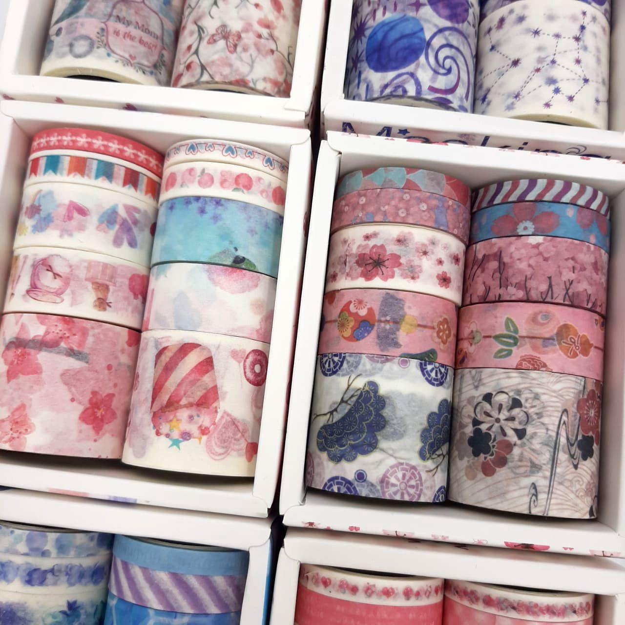 Caixinha Kit Washi Tape 10 unidades