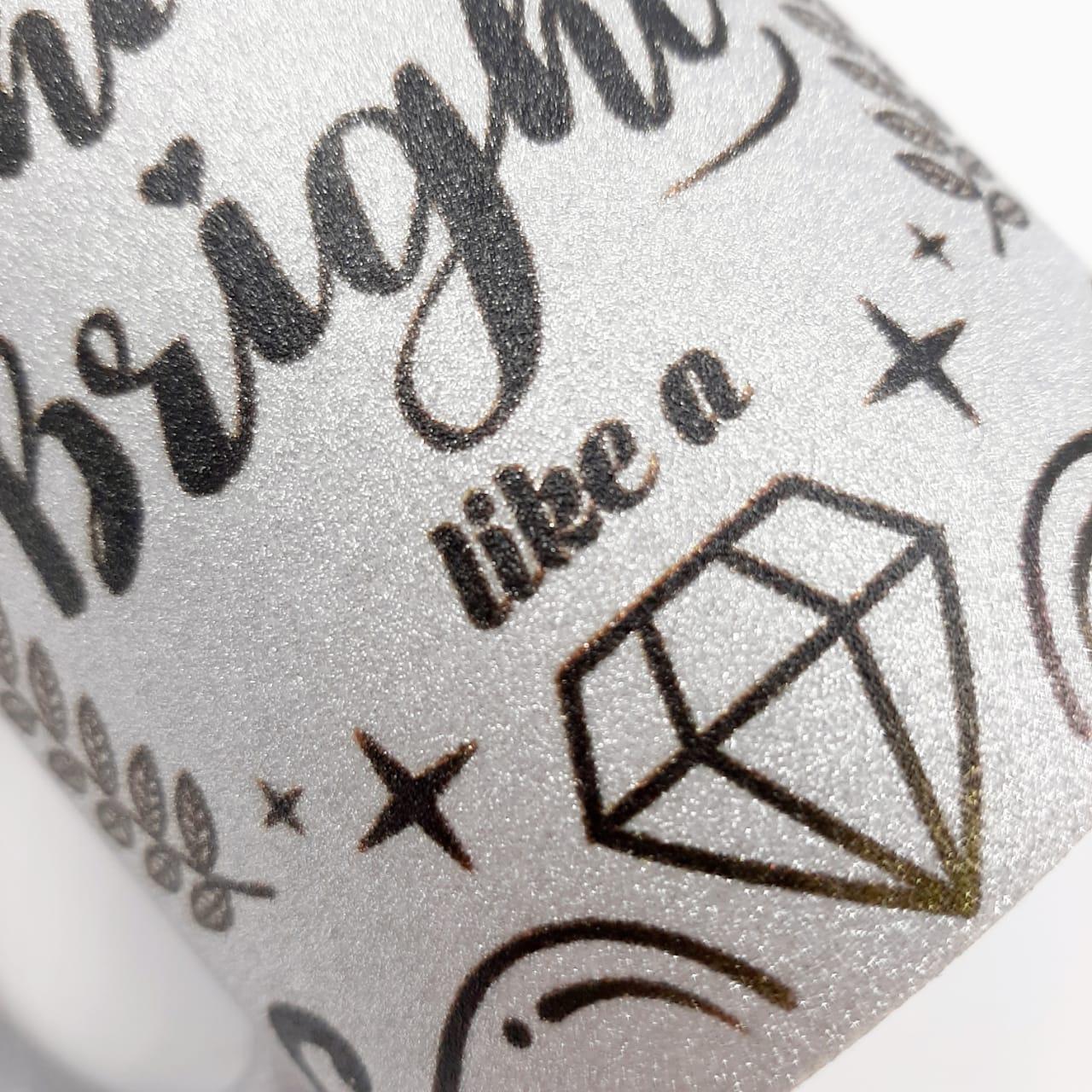Caneca com Glitter - Diamonds