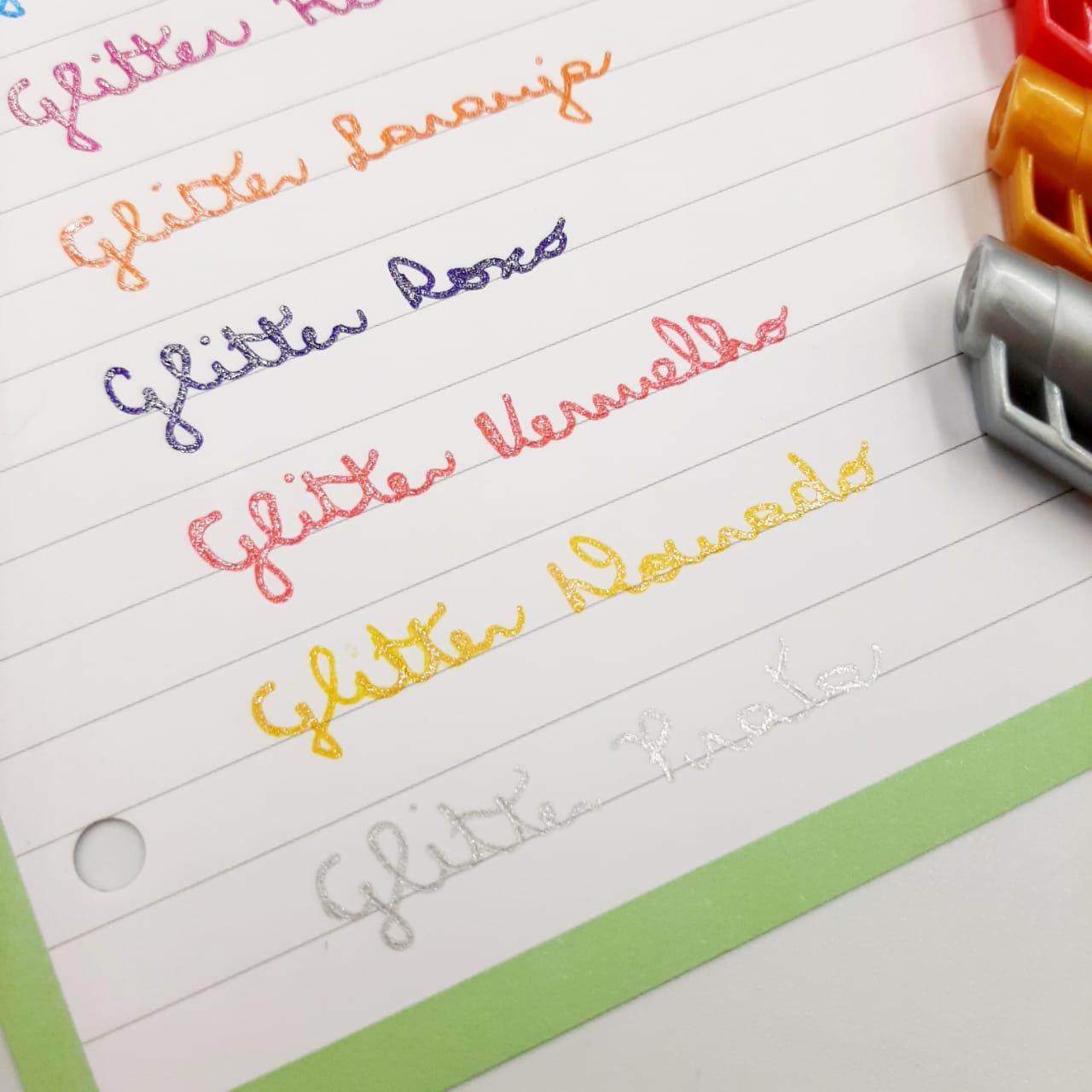 Caneta Esferográfica Gel Glitter 1.0mm BRW Unitária