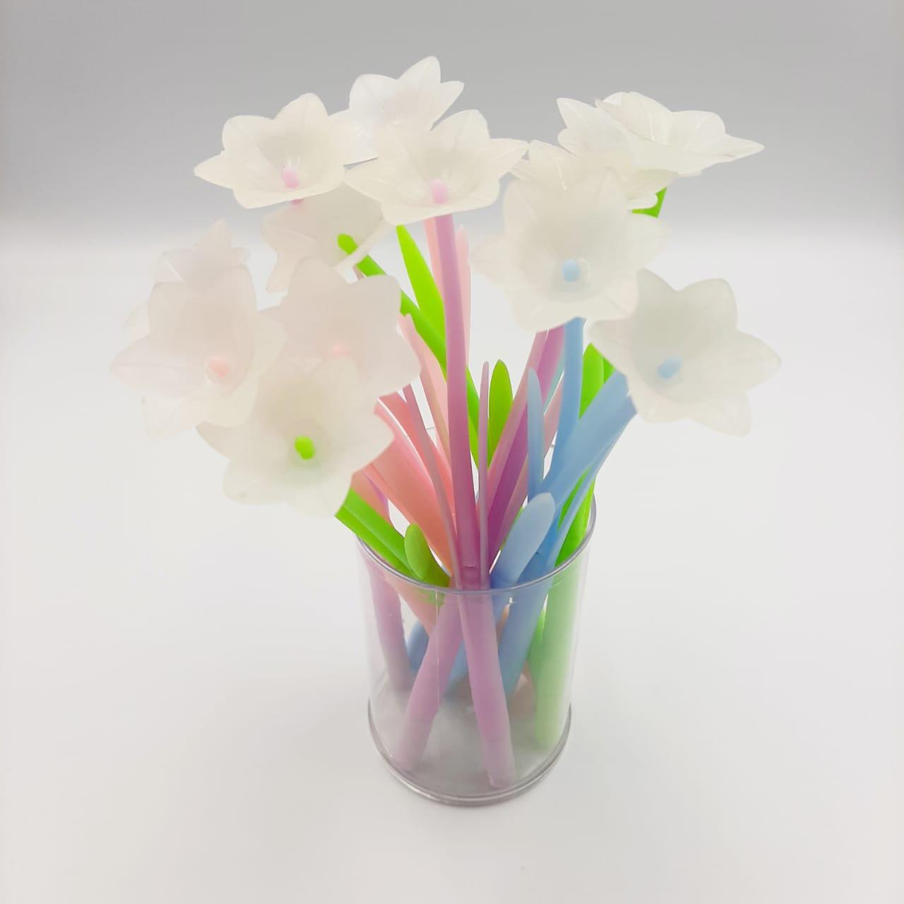 Caneta Gel - Flores