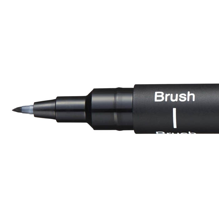 Caneta UNI-BALL Uni Pin Brush Preto