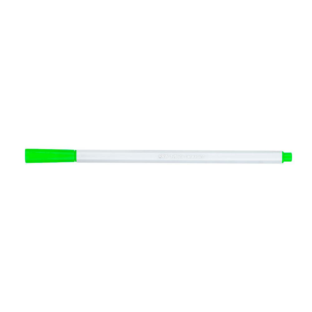 Canetinha Hidrográfica Fine Marker 1.0mm 6 Cores Neon BRW