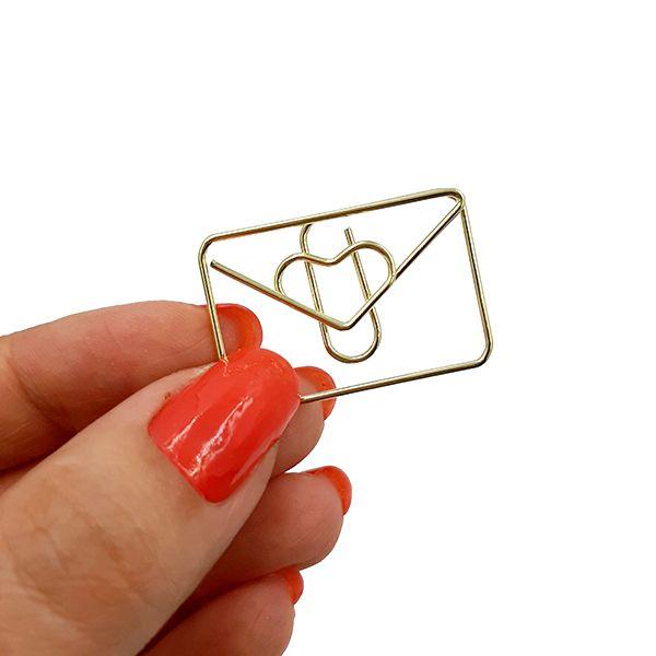 Clips Molin - Cartinha Dourada 12un