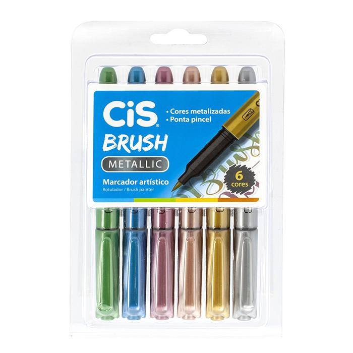 Estojo CIS Brush Metallic 6 Cores