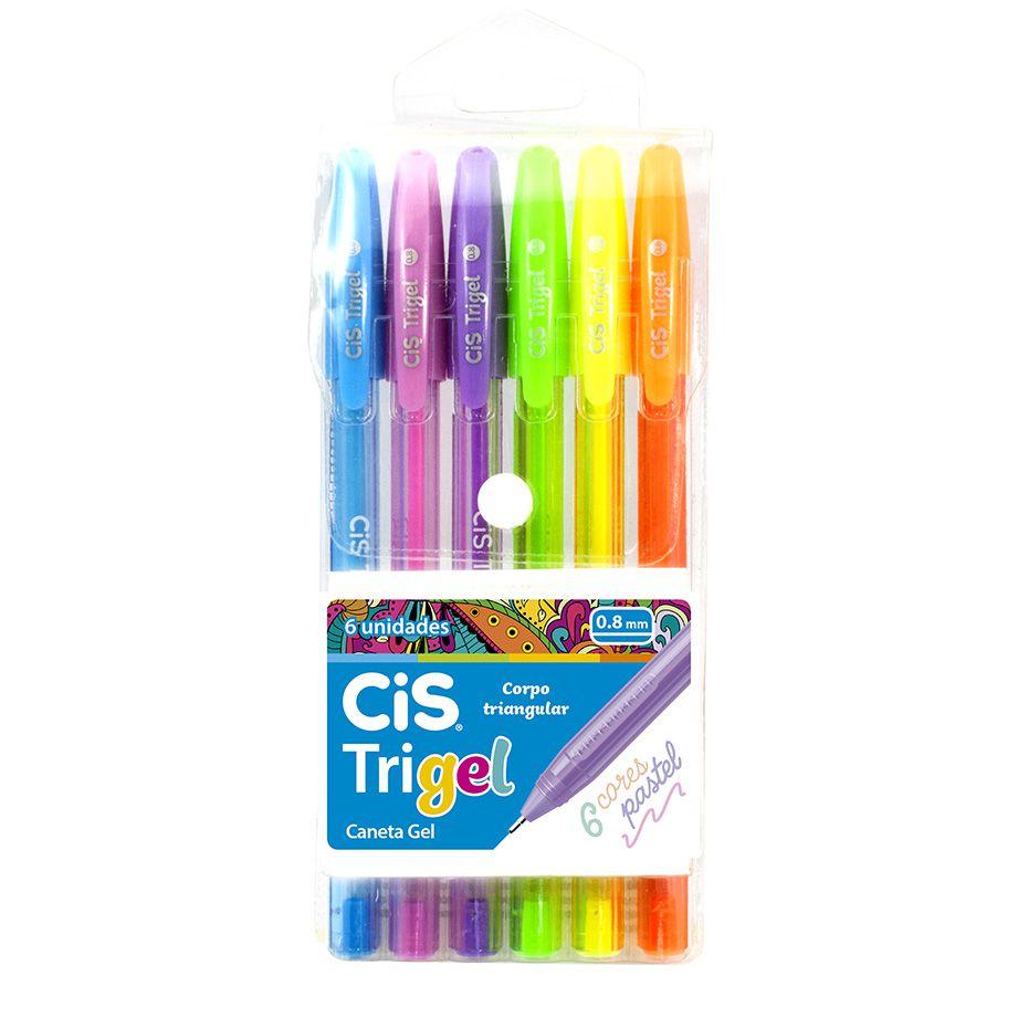 Estojo Cis Trigel Pastel 6 Cores