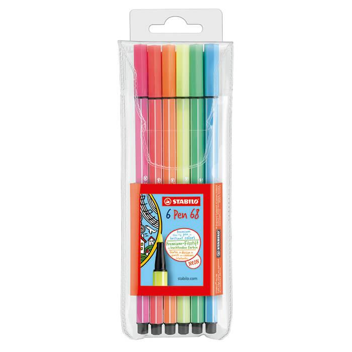 Estojo Stabilo Pen 68 Neon - 6 Cores