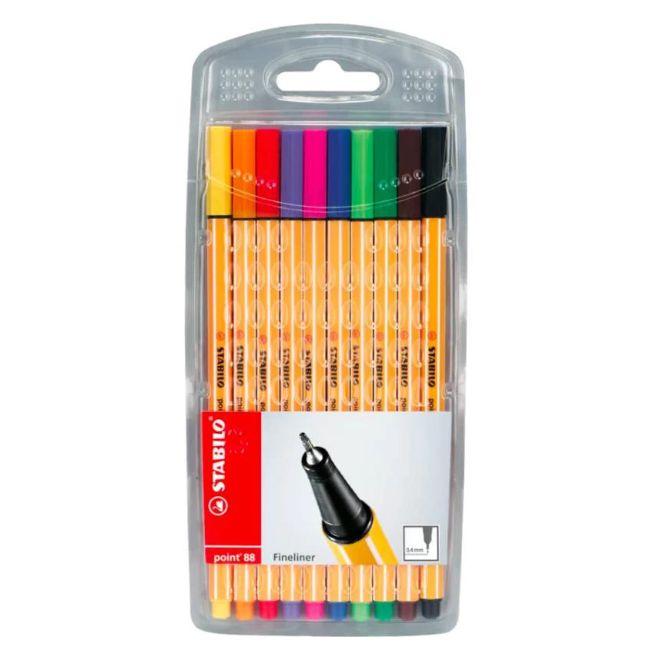 Estojo Stabilo Point 88 - 10 cores