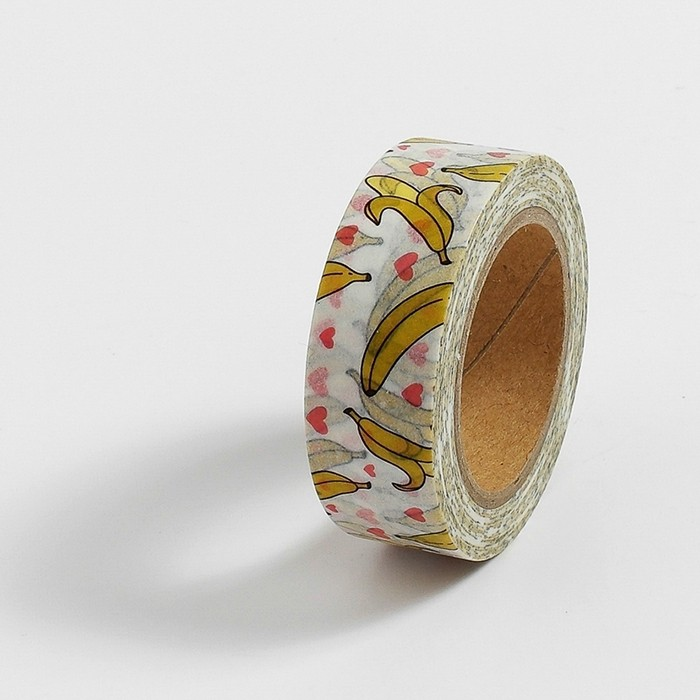 Fita Adesiva Decorativa Washi Tape - Banana