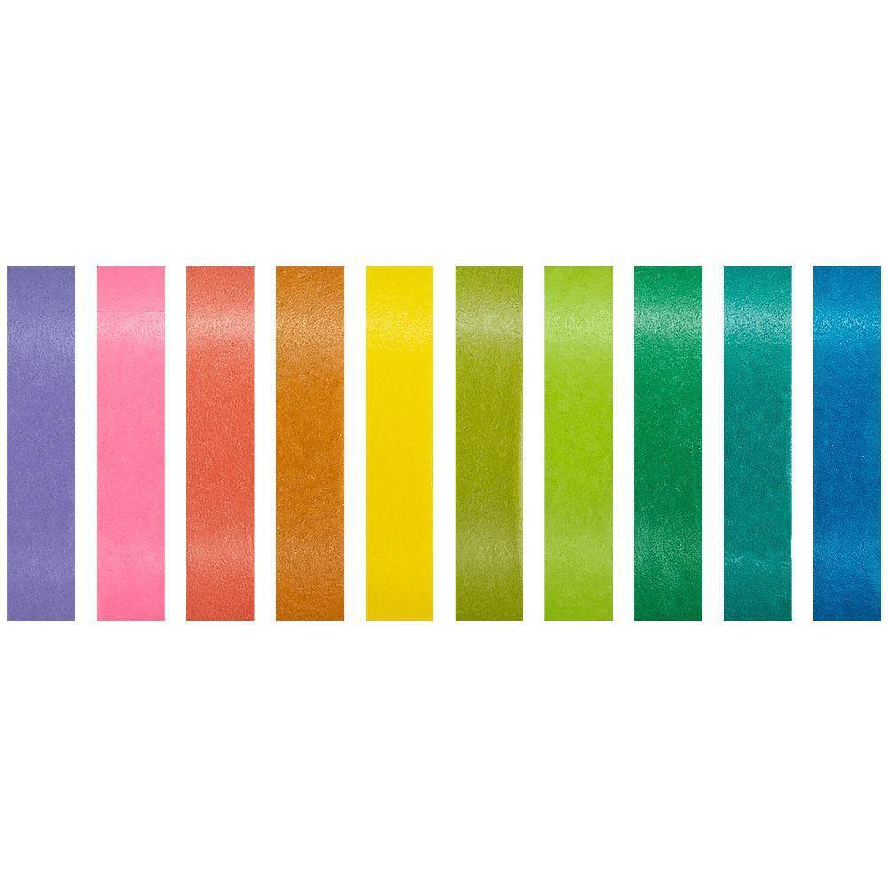 Fita Adesiva Decorativa Washi Tape Colorida Arco-Íris 10 unidades BRW