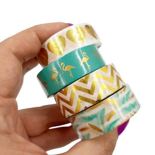 Fita Adesiva Washi Tape Tilibra Metalizada