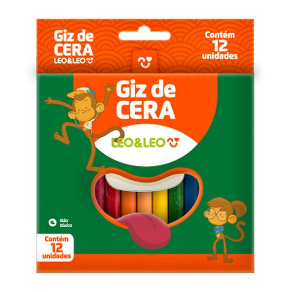 Giz de Cera Leo & Leo 12 Cores