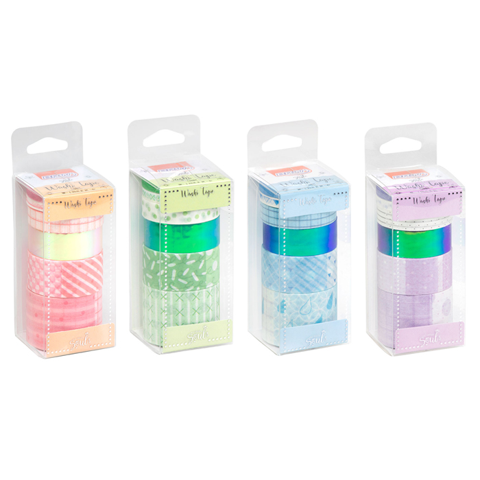 Kit 6 Washi Tapes Candy BRW