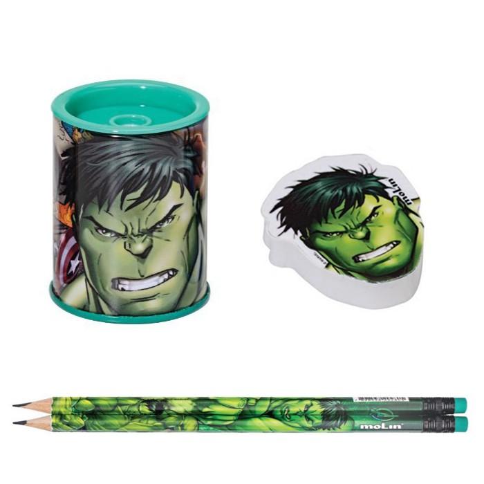 Kit Avengers com Lápis Borracha Apontador