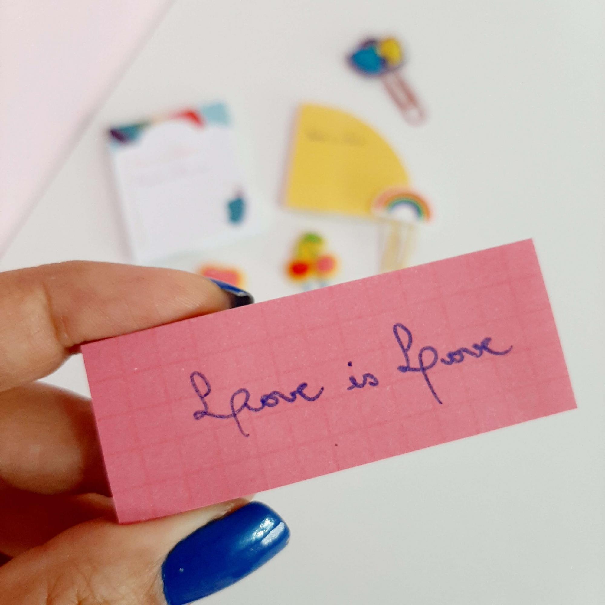 Kit Bloco Adesivo Love is Love 3 Blocos Jocar Office