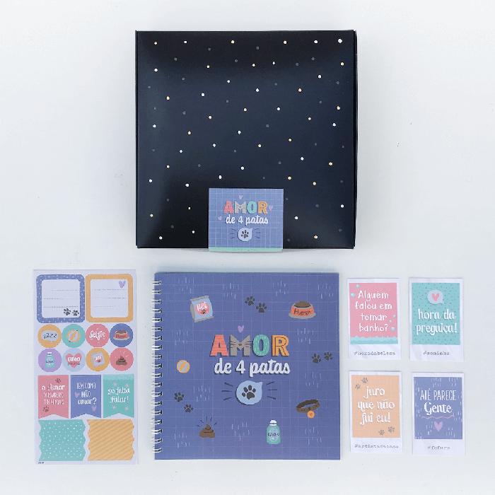 Kit Scrap Álbum Cartões Gigantes - Amor de 4 Patas