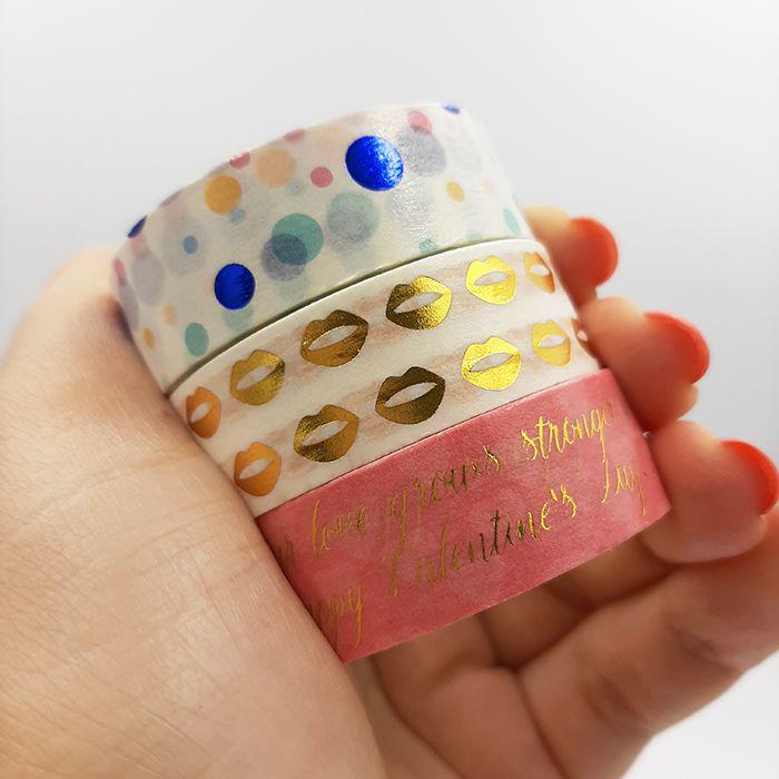 Kit Washi Tape com Foil Molin - Beijo