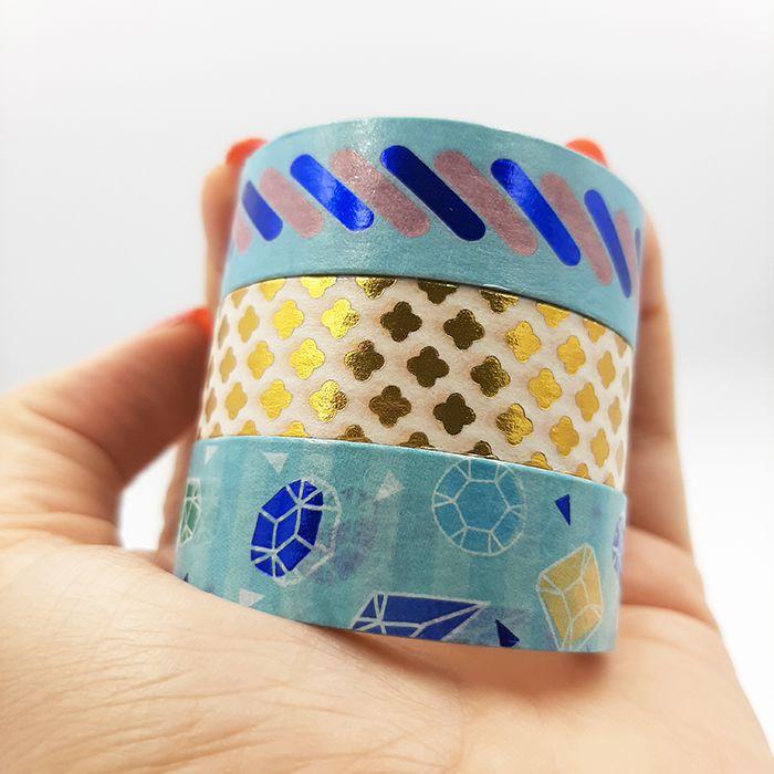 Kit Washi Tape com Foil Molin - Riqueza