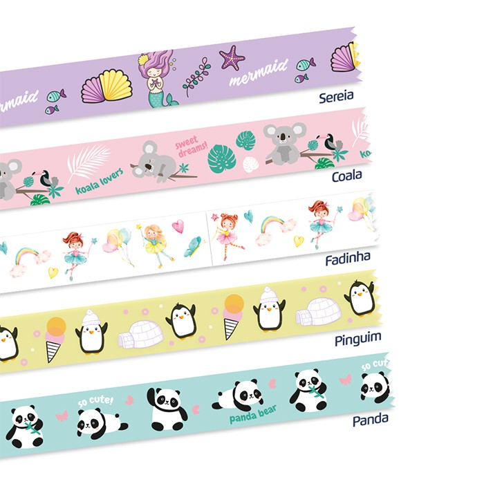 Kit Washi Tape Fantasy 5 unidades