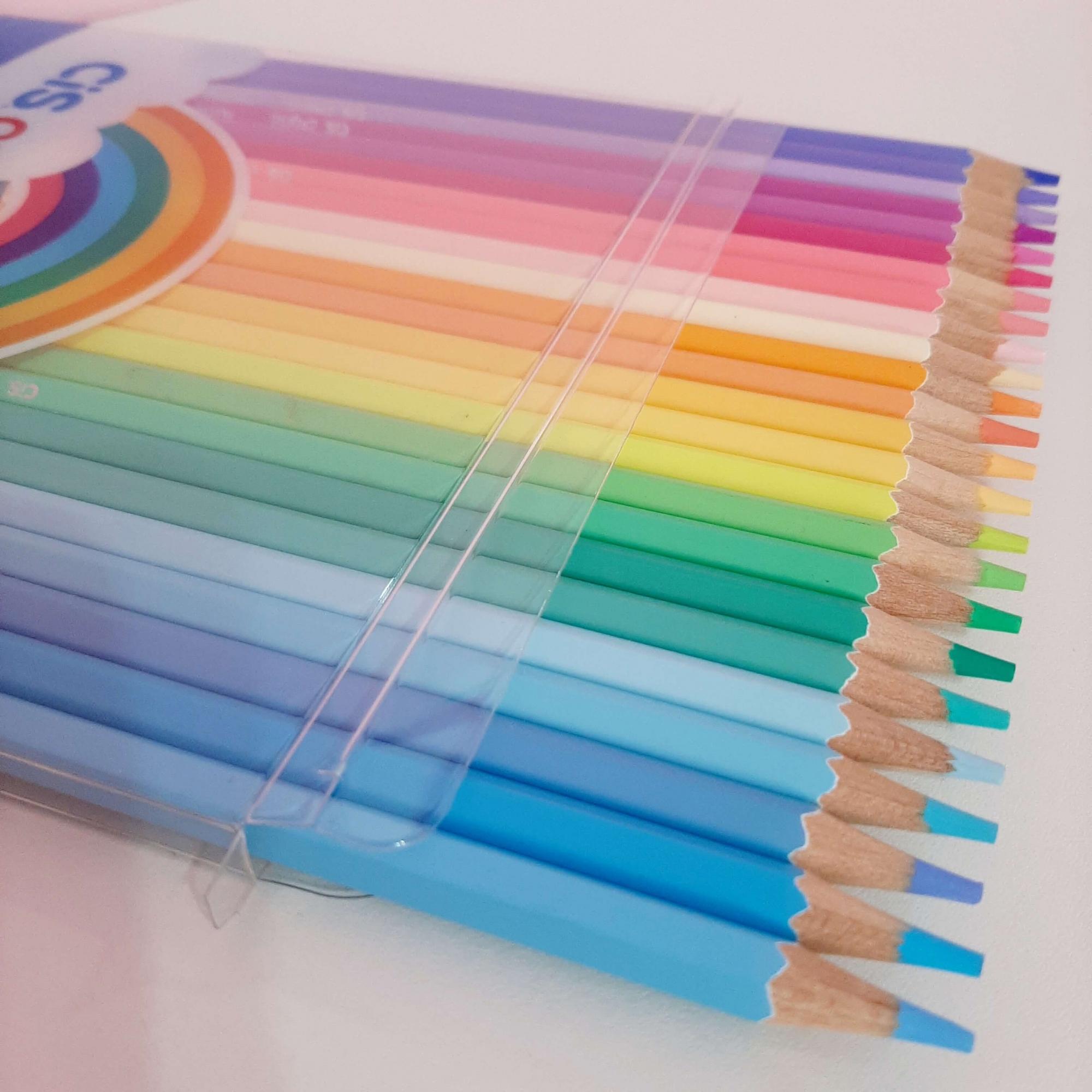 Lápis de Cor Pastel CIS Criatic 24 Cores
