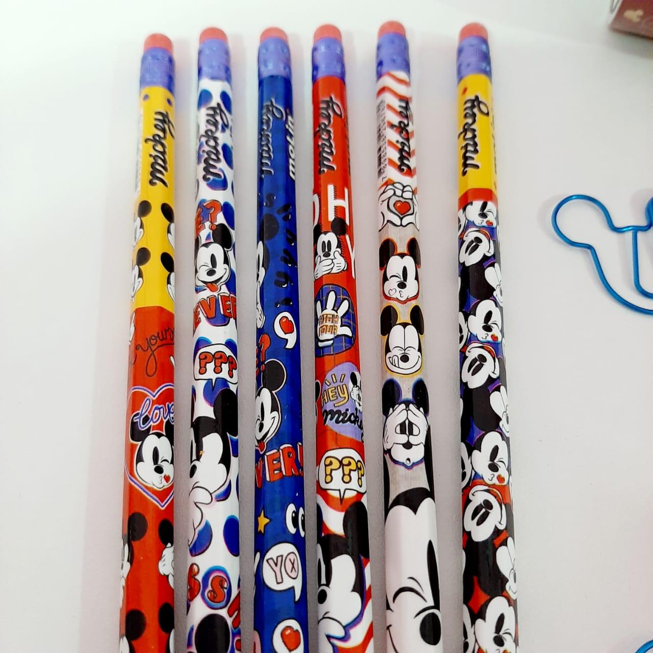 Lápis HB Nº2 Com Borracha Molin - Mickey Unitário Sortido