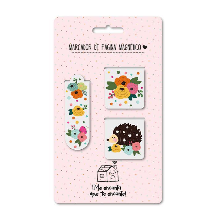 Marcador de Página Magnético - Floral