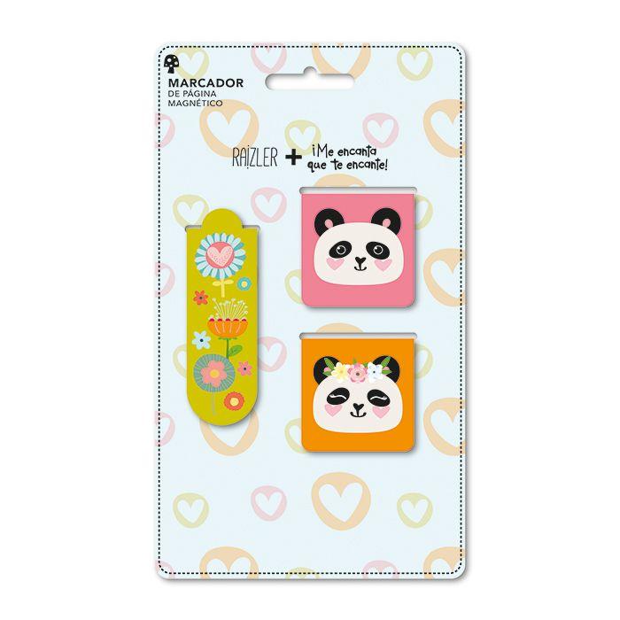 Marcador de Página Magnético - Panda