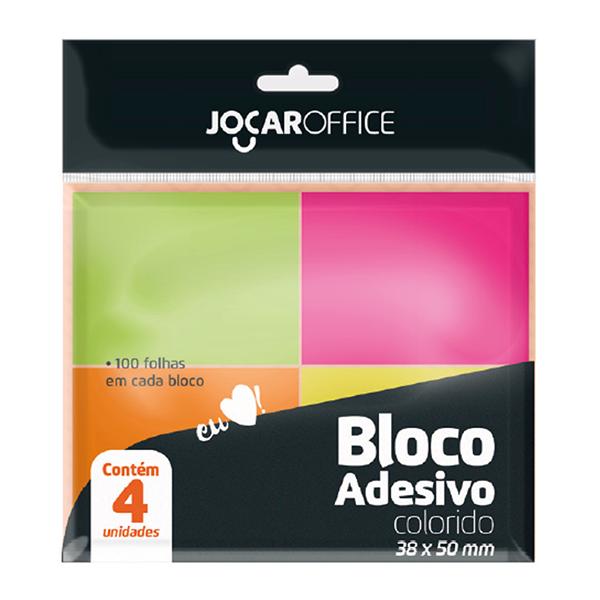 Mini Bloco de Notas Adesivas Colorido 4 un Jocar Office