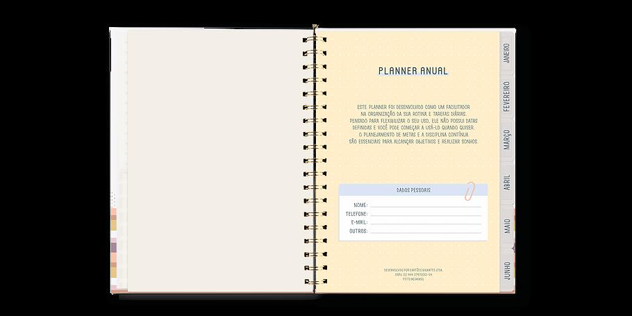 Planner Anual Permanente Cartões Gigantes Cerejinha
