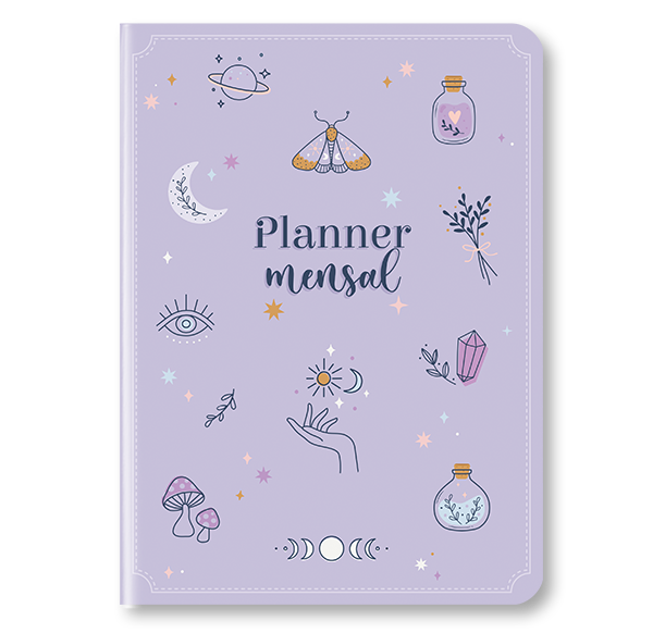 Planner Mensal Cartões Gigantes - Várias Estampas