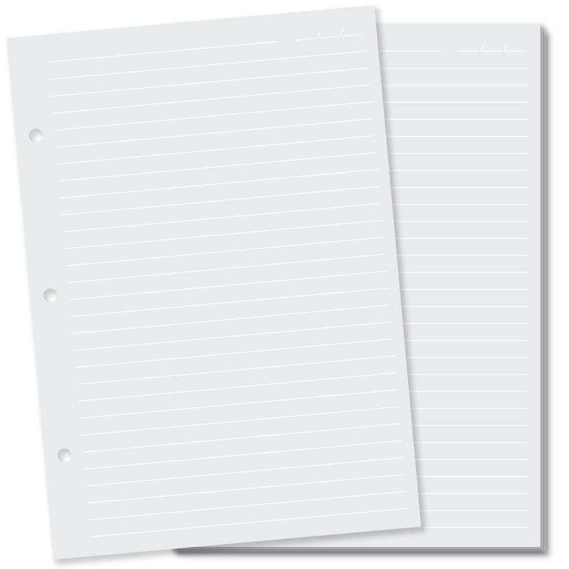 Refil Caderno Argolado Fina Ideia - Miolo Pautas ou Pontilhado Branco