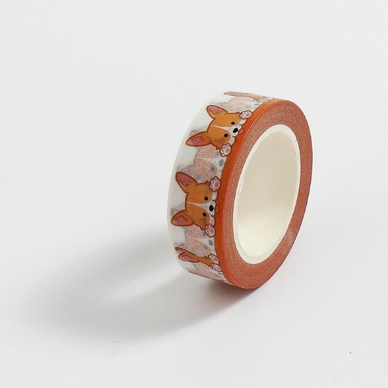 Fita Adesiva Decorativa Washi Tape - Cachorrinho